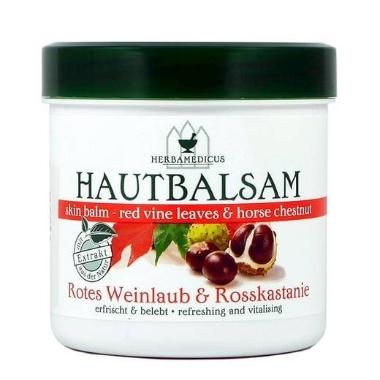 Balzams ķermenim ar vīnogu lapu un kastaņu ekstraktu, Herbamedicus, 250 ml