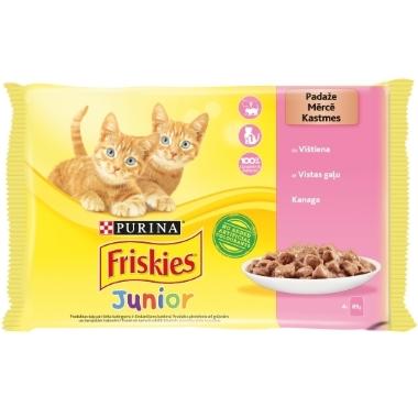 Konservi kaķēniem Junior Friskies ar vistas gaļu, 4x85g
