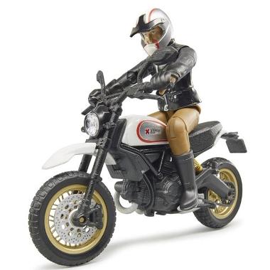 Rotaļu motocikls Ducati ar vadītāju, Bruder