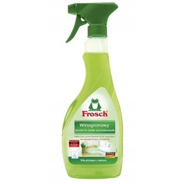 Līdzeklis vannas un dušas tīrīšanai vīnogu skābi Frosch, 500 ml