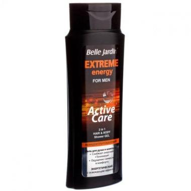 Dušas želeja un šampūns vīriešiem, Extreme energy, Belle Jardin, 400 ml