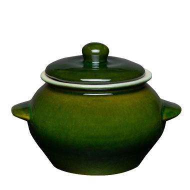 Karstumizturīgs pods zaļš Vaidava Ceramics, 0,5 L