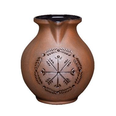 Māla krūze matēta ar rakstu, Vaidava Ceramics, 2,5 L
