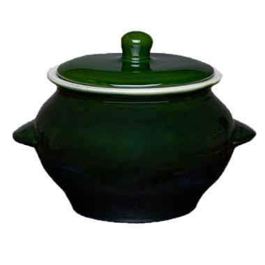 Karstumizturīgs pods zaļš Vaidava Ceramics, 2 L