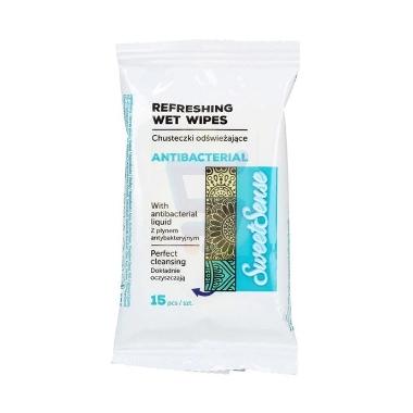Antibakteriālas mitrās salvetes Cleanic, 15 gab.