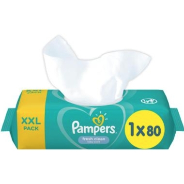 Mitrās salvetes Pampers Sensitive, 80 gab.