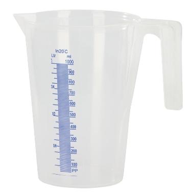 Plastmasas mērtrauks, 1 L