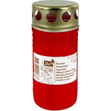 Āra svece ar vāciņu, sarkana, 11 cm