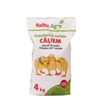 Pilnvērtīga barība cāļiem 0-7ned. Baltic Agro, 4 kg
