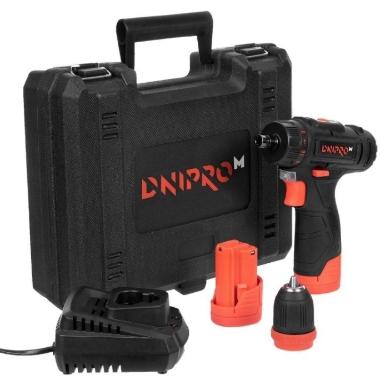 Akumulatora urbjmašīna, skrūvgriezis CD-121Q 12V 2x1,5Ah, Dnipro-M