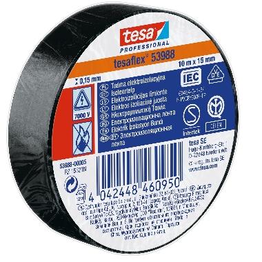 Izolācijas lente Tesa Professional melna, 10m x 15mm