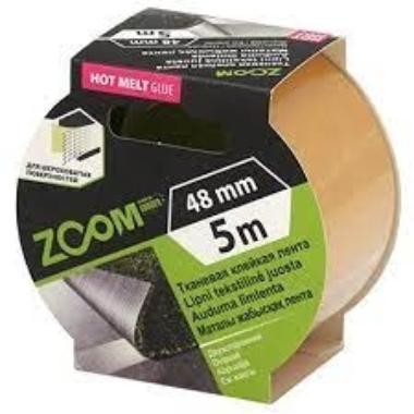 Auduma līmlente abpusēja Zoom, 5m x 48mm