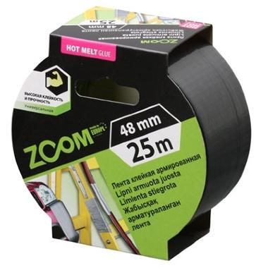 Līmlente stiegrota pelēka Zoom, 25m x 48mm