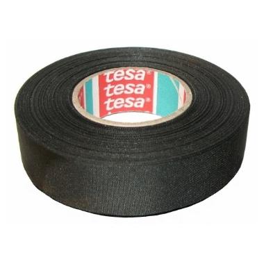 Auduma izolācijas lente Tesa melna, 25m x 19mm