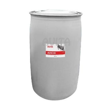 Koncentrāts slaukšanas iekārtu tīrīšanai Avicid, 240 kg