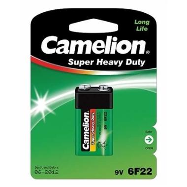 Baterija Camelion Super Heavy Duty 6F22, 9 V, 1 gab.