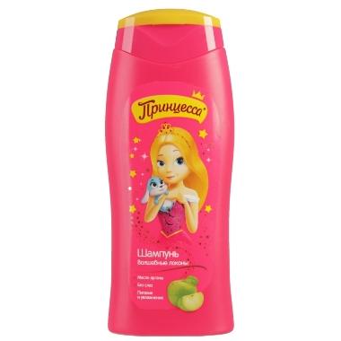 Bērnu dušas želeja Princess, ābolu, 2in1, 250 ml