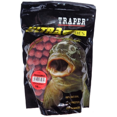 Papildbarība zivīm boilas zemeņu 16mm Traper, 500 g