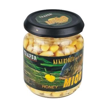 Dabīgā ēsma zivīm Kukurūza ar medu, Traper, 125 g