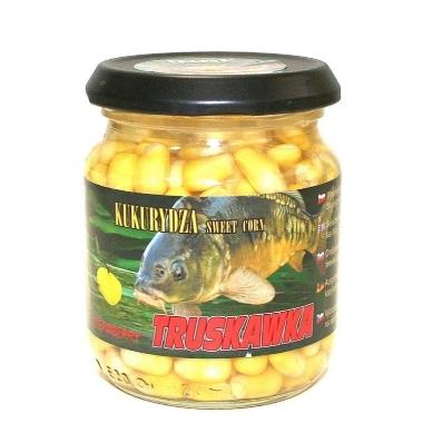 Dabīgā ēsma zivīm Kukurūza ar zemenēm, Traper, 125 g