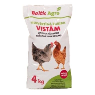 Pilnvērtīga barība dējējvistām Baltic agro, 4 kg