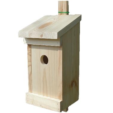 Putnu būris koka 14x14x29cm