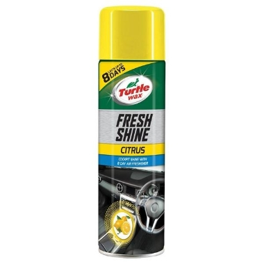 Paneļa tīrīšanas aerosols Fresh shine ar citronu, Turtle wax, 500 ml