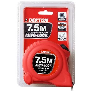 Mērlente Dekton Auto Lock 7,5m x 25mm