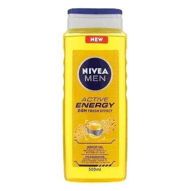 Dušas želeja Active Energy, Nivea Men, 500 ml