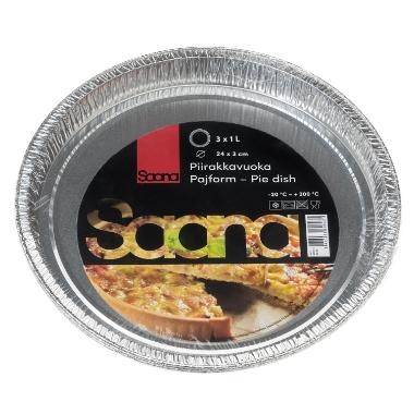 Alumīnija pīrāgu šķīvji Saana, 3 gab.