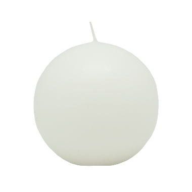 Lodes formas svece gaiši balta, Diana sveces, 6 cm