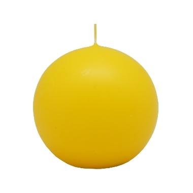 Lodes formas svece dzeltena, Diana sveces, 6 cm