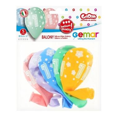"Ciparu baloni ""1"" Godan, 5 gab."