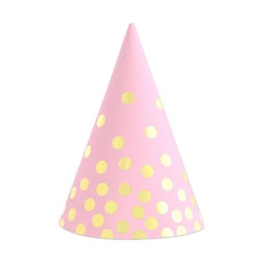Cepurītes ballītei rozā ar pumpiņām Godan, 6 gab.
