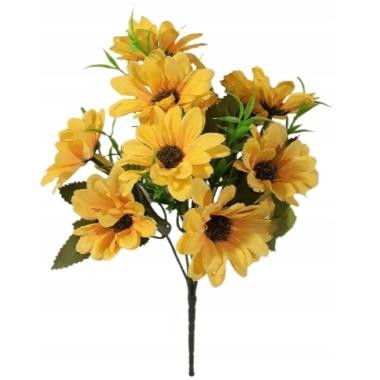 Mākslīgo ziedu pušķis dzeltens, 30 cm