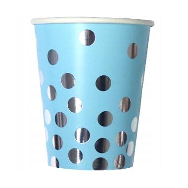 Papīra glāzes zilas ar punktiem, Godan, 6 gab.