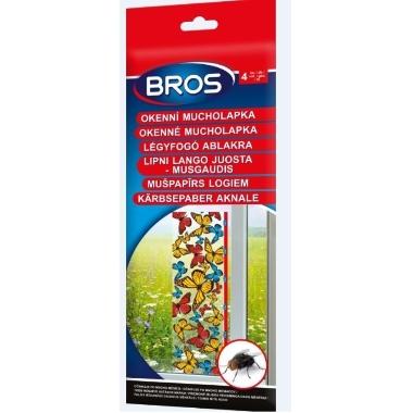Mušpapīrs logam ar puķītēm Bros, 4 gab.
