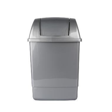 Atkritumu tvertne sudraba Bentom, 12 L