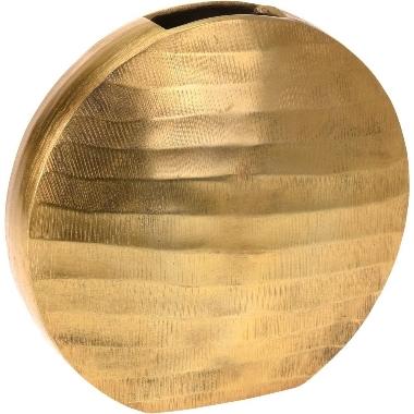 Vāze plakana zelta, 24,5 cm