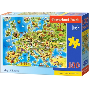 Puzle Eiropas karte, Castorland, 100 gab.