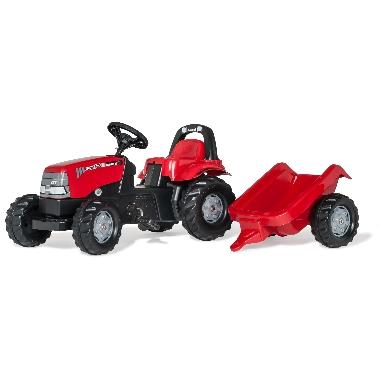 Rotaļu minamais traktors Case 1170 CVX ar piekabi, Rolly Toys