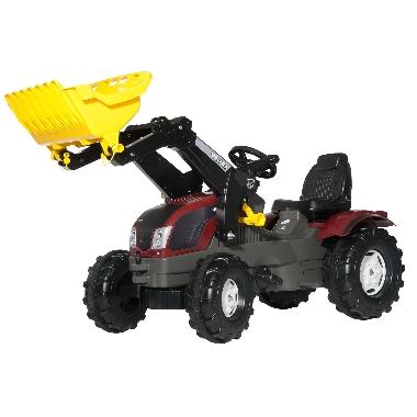 Bērnu minamais traktors ar iekrāveju Valtra T213, Rolly Toys