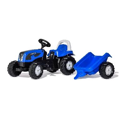 Bērnu minamais traktors ar piekabi Landini, Rolly Toys