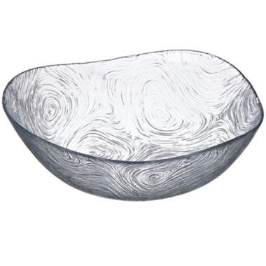 Dekoratīvs šķīvis Linden stikla, 23 cm