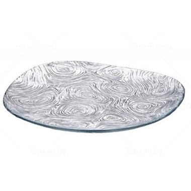 Dekoratīvs šķīvis Linden stikla, 24 cm