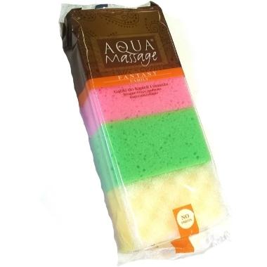 Dušas sūkļu komplekts Aqua Mix, 4 gab.