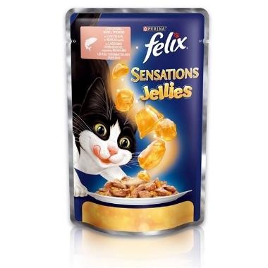 Kaķu barība ar lasi un mencu Felix, 100 g