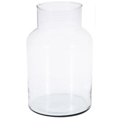 Stikla vāze ar sašaurinātu augšu, Mondex, 14x26cm
