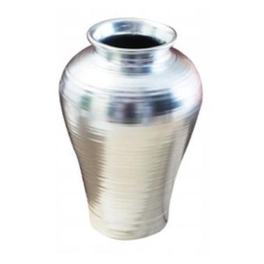 Keramikas vāze sudraba, spīdīga, 24,5cm