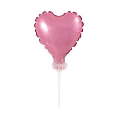 Balons folija sirds rozā, Godan, 8 cm